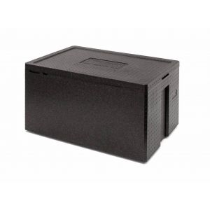 White art isothermal container Polibox MAXI 260 black