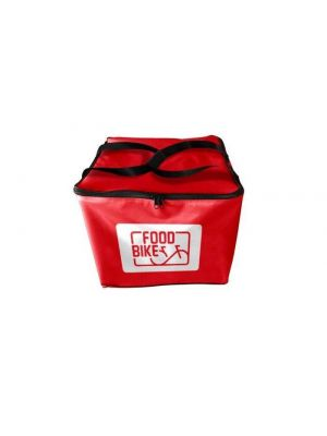 Mochila Food Bike rojo + contenedor isotérmico Pizzabox